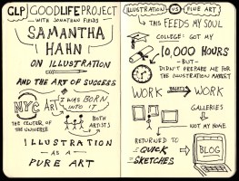 Good Life Project Samantha Hahn Sketchnotes